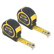 Stanley Tylon 8m Tape Measure Twin Pack