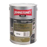 Johnstones Quick-Drying Primer Grey 5Ltr