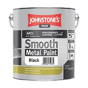 Johnstones Trade Smooth Metal Paint Black 2.5Ltr