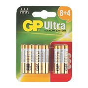 GP Ultra Alkaline Batteries AAA Pack of 12