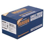 Goldscrew Plus Woodscrews Double-CSK 4x40mm Pk1000