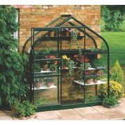 Halls Supreme 62 Aluminium Greenhouse Green Toughened Glass 6' 3 x 4' 3