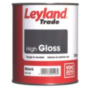 Leyland Trade High Gloss Paint Black 750ml