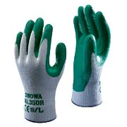 Showa 350R Thorn-Master Nitrile Gloves Green Medium