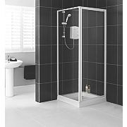 Aqualux White Pivot Shower Enclosure and Tray 760 x 1940mm