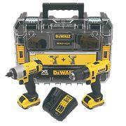 DeWalt DCK211D2T-GB 10.8V 2.0Ah Li-Ion Twin Pack Drill & Impact Driver XR