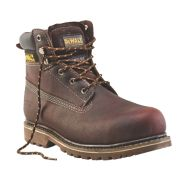 DeWalt Work Safety Boots Brown Soggy Size 8