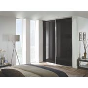 Spacepro 2 Door Framed Glass Sliding Wardrobe Doors Black 1499 x 2260mm