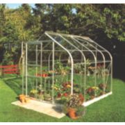 Halls Supreme 86 Aluminium Greenhouse Toughened Glass 6' 3