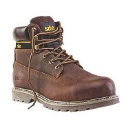 Site Mudguard Safety Boots Brown Size 11