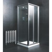 Moretti Bi-Fold Shower Enclosure Square Silver 760 x 1850mm
