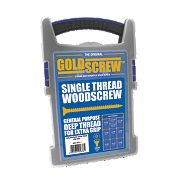 Goldscrew Woodscrews Trade Case Grab Pack Double-Countersunk Pack of 1000