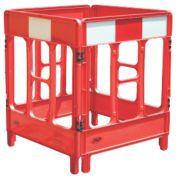 JSP 4-Gate Workgate Barrier Red