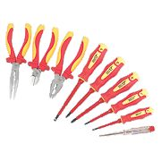 Forge Steel VDE Pliers & Screwdriver Set 9Pc