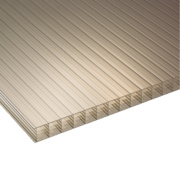 Corotherm Fivewall Polycarbonate Sheet Bronze 1050 x 25 x 3000mm