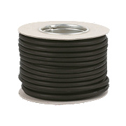 Tower 3183P 3-Core Flexible Rubber Pond Cable 0.75mm x 1m Black