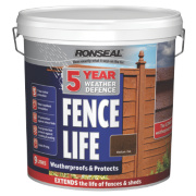 Ronseal 5 Year Weather Defence Fence Life Medium Oak 9Ltr