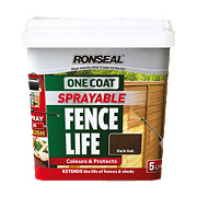 Ronseal Sprayable One-Coat Fence Life Dark Oak 5Ltr