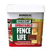 Ronseal Sprayable One-Coat Fence Life Red Cedar 5Ltr