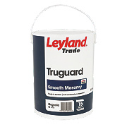 Leyland Trade Truguard Smooth Masonry Paint Brilliant White 5Ltr