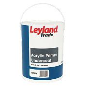 Leyland Trade Acrylic Primer Undercoat White 5Ltr