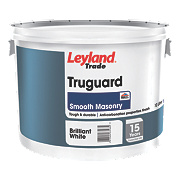 Leyland Trade Truguard Masonry Paint Smooth White 10Ltr