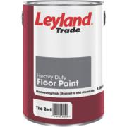 Leyland Trade Heavy Duty Floor Paint Tile Red 5Ltr