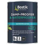 Cementone Aquaprufe Flexible Damp-Proofer & Waterproofer Dries Black 5Ltr
