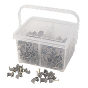 LAP Twin & Earth Cable Clips Assortment Tub Pack of 400