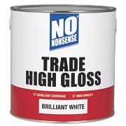 No Nonsense Trade High Gloss Paint Brilliant White 2.5Ltr