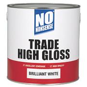 No Nonsense Trade High Gloss Paint Brilliant White 2.5Ltr