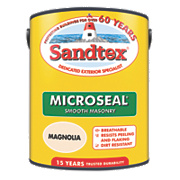 Sandtex Ultra Smooth Masonry Paint Magnolia 5Ltr