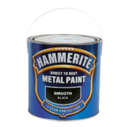 Hammerite Smooth Metal Paint Black 2.5Ltr