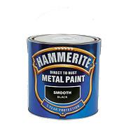 Hammerite Smooth Metal Paint Black 2.5Ltr