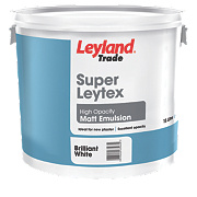 Leyland Trade Super Leytex Matt Paint Brilliant White 15Ltr
