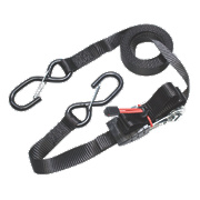 Master Lock Ratchet Straps with S-Hooks 4.25m x 25mm 2 Piece Set