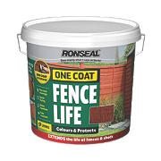Ronseal Brushable One Coat Fence Life Red Cedar 9Ltr
