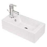 Mono Wall-Mounted Bathroom Basin 1 Tap Hole 500mm