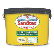 Sandtex Ultra Smooth Masonry Paint Magnolia 10Ltr