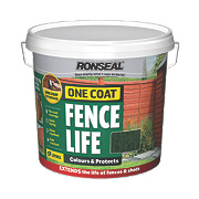 Ronseal Brushable One Coat Fence Life Forest Green 9Ltr
