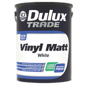 Dulux Trade Vinyl Matt Emulsion Paint White 5Ltr