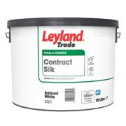 Leyland Trade Silk Silk Emulsion Brilliant White 10Ltr