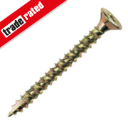 TurboGold Woodscrews Double Self-Countersunk 5 x 80mm Pk100