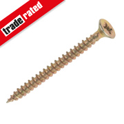 Goldscrew Yellow Zinc-Plated Woodscrews Double Countersunk 5 x 60mm Pk100