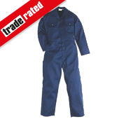"Worksafe Traditional Polycotton Boiler Suit Navy Large 44"" Chest 31"" L"