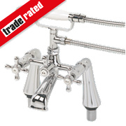 Swirl Traditional Bath Shower Mixer Tap Chrome