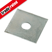 Sabrefix M12 Square Plate Washers Galvanised DX275 50mm x 50mm 50 Pack