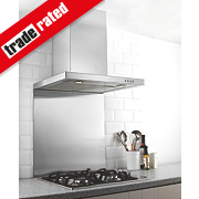 Hafele Splashback Stainless Steel 750 x 900mm
