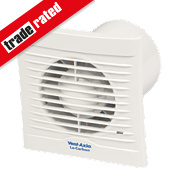 Vent-Axia 100H 6W LoCarbon Silhouette Axial Bath Extractor Fan w/Humidistat