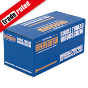Goldscrew Woodscrews Double Self-Countersunk 4 x 40mm Pk1000